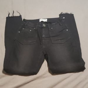 One Teaspoon destroyed crop jeans